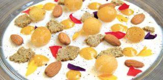 La crema biancomangiare alle mandorle di Tommaso Arrigoni