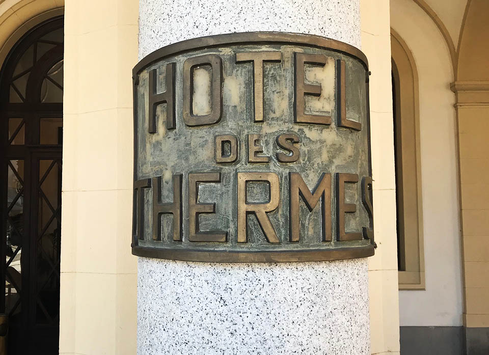 Acqui Terme hotel insegna