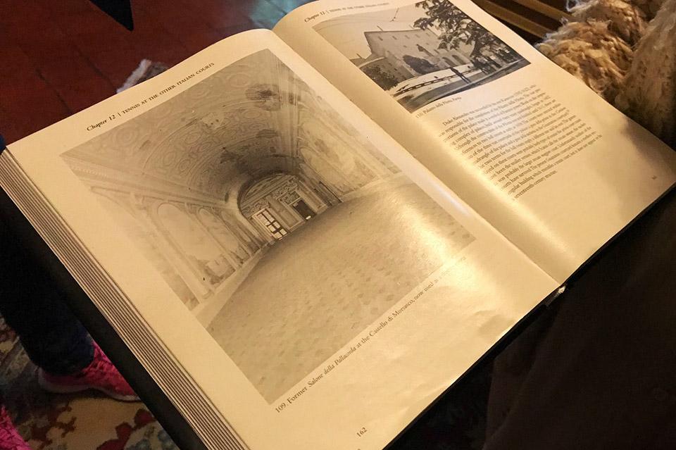 Acqui Terme Morsasco illustrazione sala Pallacorda