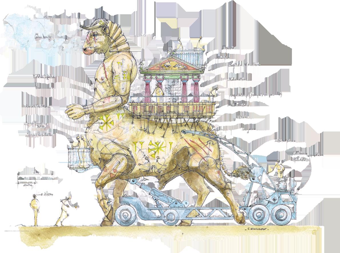 50 cose meravigliose disegno Minotaur