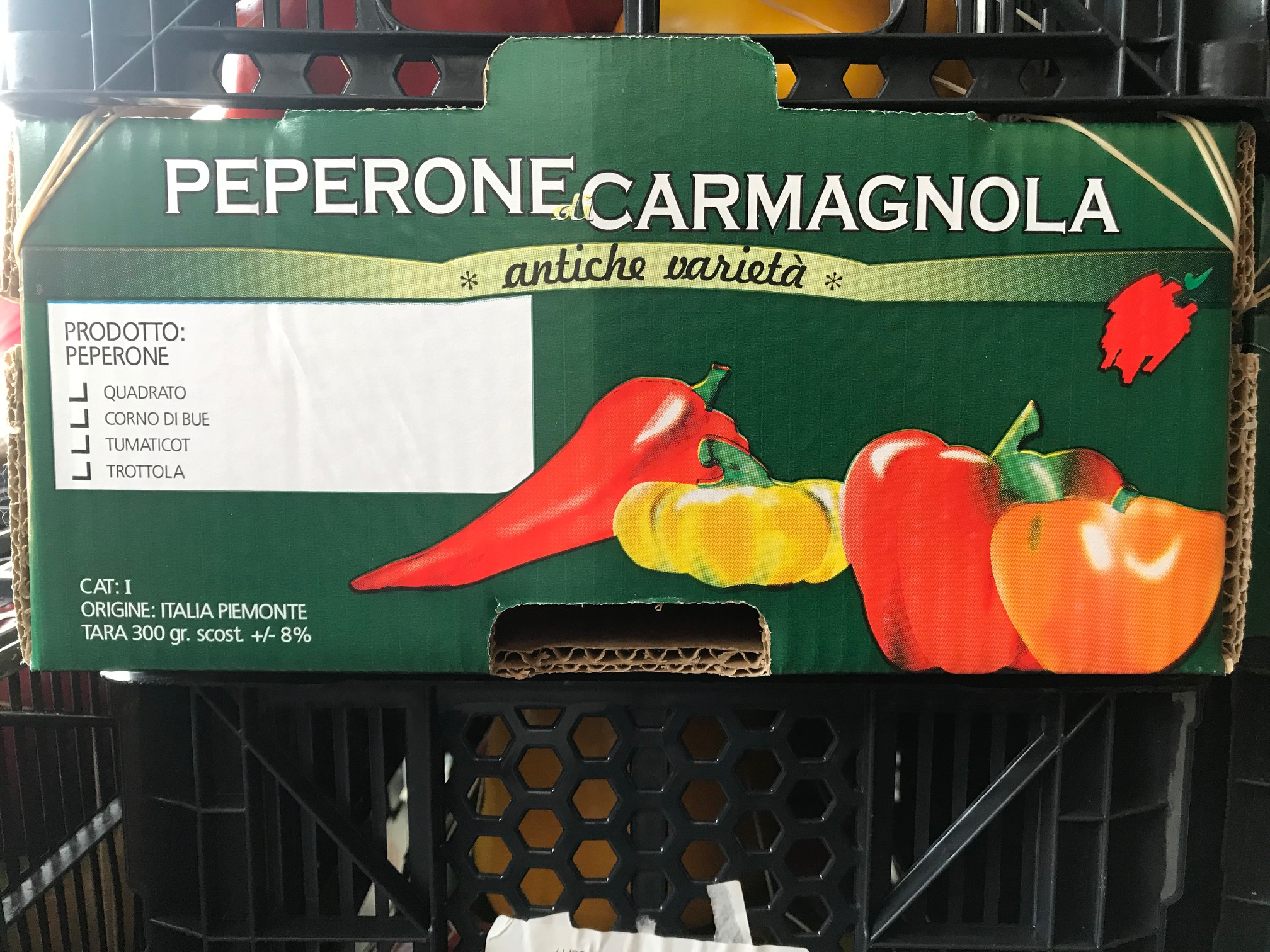 4 tipi di peperoni Carmagnola