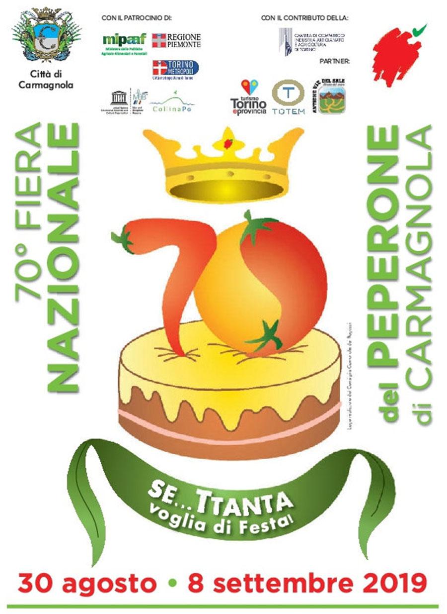logo e manifesto 70° Fiera del peperone Carmagnola