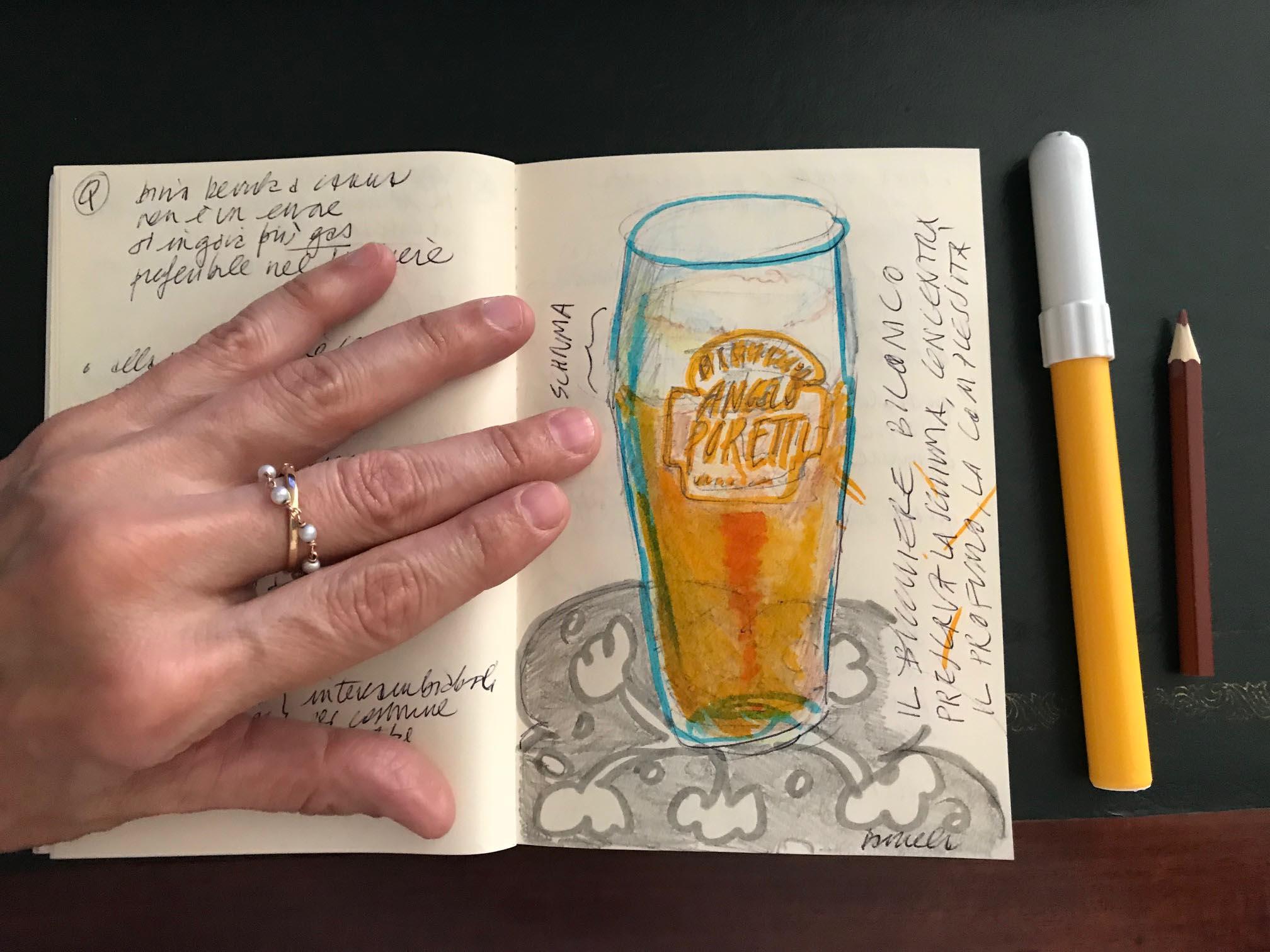 bcchiere birra Angelo Poretti disegno